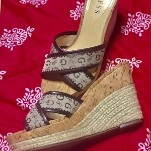 Guess Shoes - Guess slip on wedge sandals.